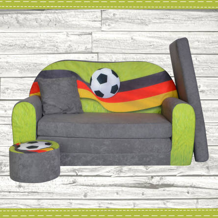 sofa enfant 2 places convertibles football fan zone de. Black Bedroom Furniture Sets. Home Design Ideas