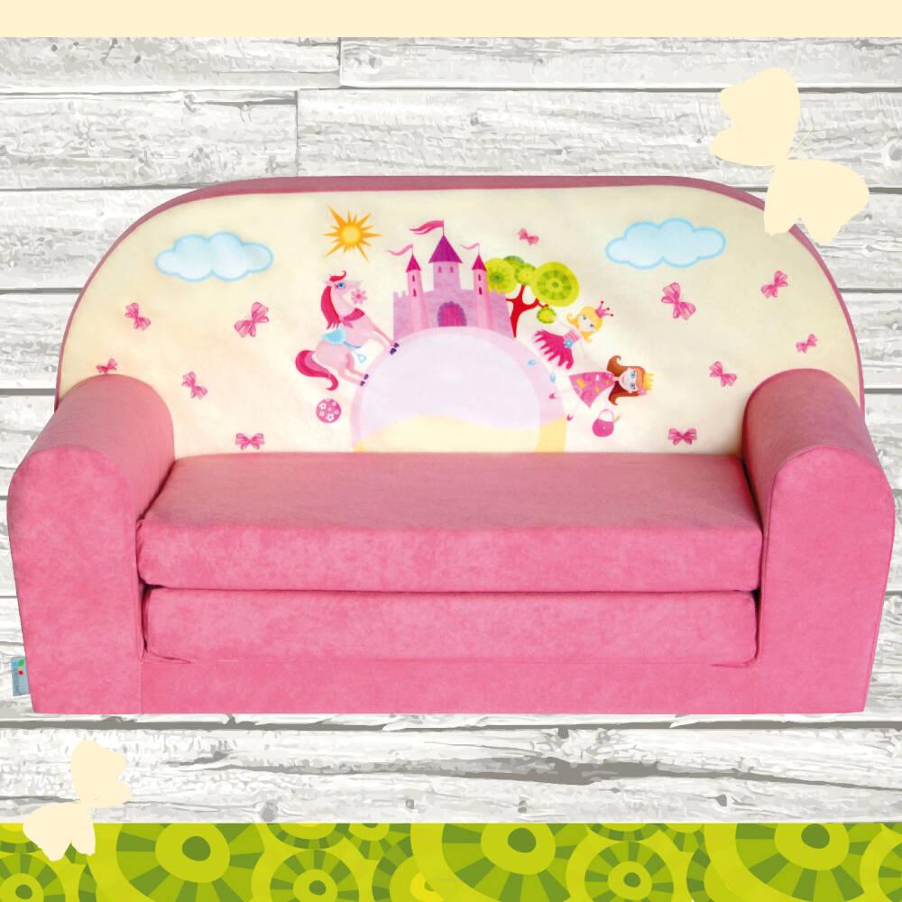 mini canap lit enfant ch teau rose. Black Bedroom Furniture Sets. Home Design Ideas