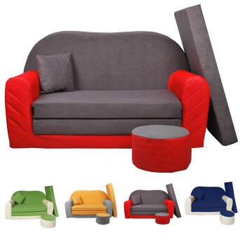 tout neuf 9e97b ae72b Sofa enfant 2 places convertibles Bi-colorfauteuils,poufs ...