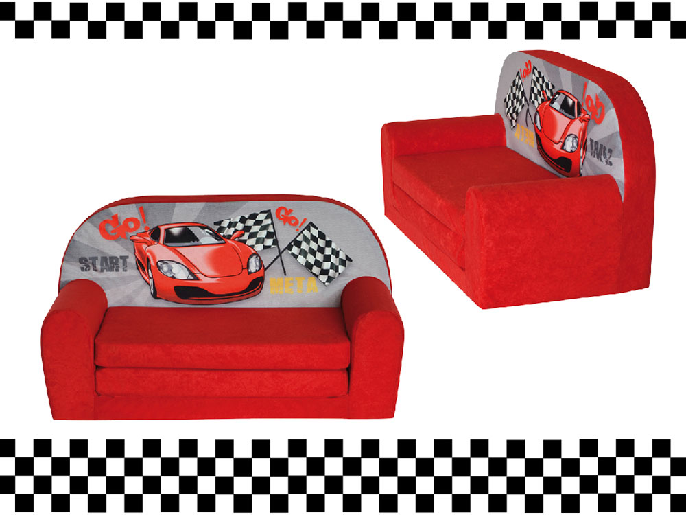 mini canap lit enfant racingfauteuils poufs matelas meubles enfants. Black Bedroom Furniture Sets. Home Design Ideas