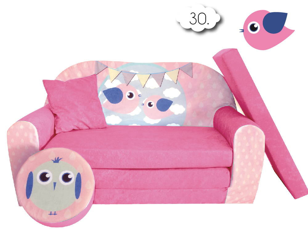 sofa enfant 2 places convertibles lit d 39 appoint pouf canap ebay. Black Bedroom Furniture Sets. Home Design Ideas